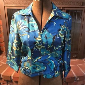 Silk Allison Taylor wrap around blouse